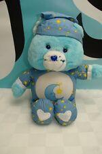 "Care Bear Nigh Light Plush Blue Bear Sleepy 13"" Working"