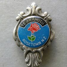 TE Awamutu Rosetown NZ Sugar Shell Souvenir Spoon Teaspoon (T105)