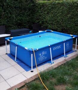 LARGE family garden swimming pool metal frame new