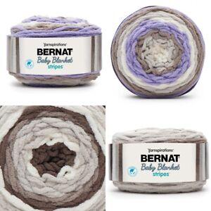 [BUY 10 GET 25% OFF] Bernat Baby Blanket Stripes 300g Yarn