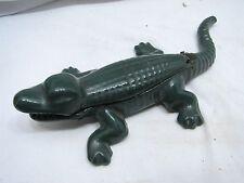 Vintage Cast iron Alligator Table Match Safe Keeper Holder