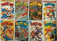 Plastic man comic lot from:#11-19 8 different 4.0 VG H2O damage (1976+77)