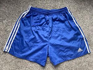 Vintage 90s Mens Large Adidas Athletic Soccer Running Gym Nylon Shorts