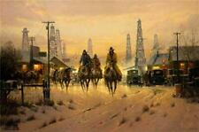When Cowboys Don't Change by G. Harvey Signed Limited 2,250 Paper 22x33 NEW