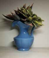 Vintage Wall Pocket Blue Shaped Like A Pitcher Excellent Condition 7x6 inches