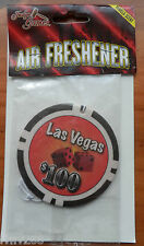 LAS VEGAS $100 DICE AIR FRESHENER DOUBLE SIDED CAR VAN BOAT HOME BNIP GREAT GIFT