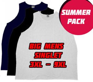 Big Aussie 9 pack plus size singlet 3XL, 4XL, 5XL, 7XL and 9XL