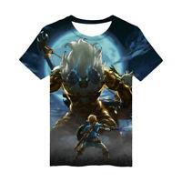 3D Print The Legend of Zelda: Breath of The Wild Men Women Sports Tee T Shirt