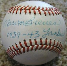 RARE Marv Marvin Breuer dec.91 PSA/DNA Signed Baseball 1939-43 New York Yankees