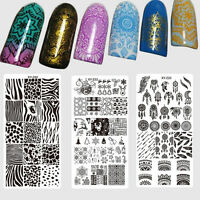 Nail Stamping Plates Flower Print Animal Dream Catcher Pattern Template Polish