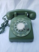 Vintage Bell System Western Electric Rotary Dial Desk Phone Avocado Green WORKS!