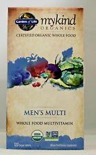 MyKind Organics Men's Multi vitamin 120 Vegan Tablets Garden of Life Organic