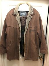 Vintage Men's SHEEPSKIN Fine Shearling COAT JACKET SAWYER of NAPA MARLBORO MAN