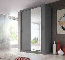 Brand New Modern Bedroom Mirror Sliding Door Wardrobe ARTI 4 150cm in Grey
