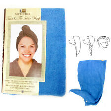2 Pc Microfiber Large Hair Head Wrap Towel Turbie Turban Twist Soft Cap Fast Dry