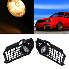 2pcs Car Bumper Grille Driving Fog Lights Lamps For VW Golf Jetta MK3 1993-1998