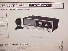 1975 REGENCY CB RADIO SERVICE SHOP MANUAL MODEL CR-142