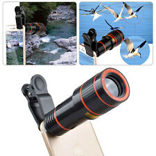Clip-on 8X 12X Zoom Optical Phone Camera Lens Telescope Telephoto For Cellphones
