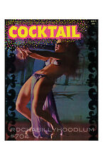 Pin Up Girl Poster 11x17 Retro Cocktail Magazine Cover Art Burlesque Dancer