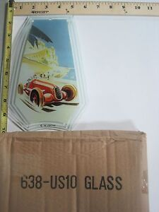 FREE US SHIP OK Touch Lamp Replacement Glass Panel Car Race Art Deco 638-US10