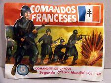 MONTAPLEX Sobre Grupos de Combate COMANDOS FRANCESES 2ª GM soldaditos 70s airfix