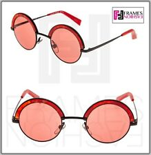 1ff3ba9bf63 ALAIN MIKLI 4003 Paris Retro Avantgarde A04003 Metal Round Black Red  Sunglasses