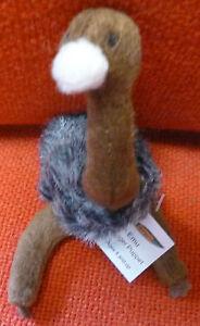 AUSTRALIAN ANIMAL FUNDRAISER GIFT EMU Soft Material FINGER PUPPET