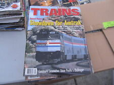 """Vintage """"Trains"""" magazine lot complete/full year 1995"""