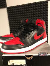 2001-Nike Air Jordan I 1 retro-bred-BLACK WHITE RED - 136066-061 + High OG