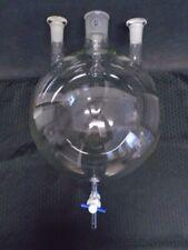 Q Glass 20000ml 4 Neck Round Bottom Distilling Flask 5550 2942 9mm Ptfe Stpck