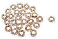 Floral Shape Beaded Sequin Mirror Applique Costume Design Craft Supplies 1 Dozen