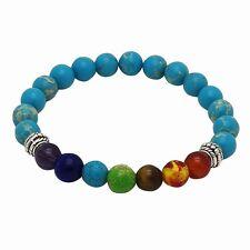 Chakra Bracelet LIGHT BLUE with 7 Gemstones by ZILA COMPANY, Healing Yoga Reiki