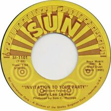 """JERRY LEE LEWIS - Invitation To Your Party  7"""" 45"""