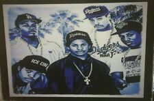 NWA straight out of Compton portrait PRINT  SIZE 76X50 CM UV PROTECTED stunning