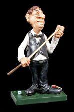 Billardspieler Figur kreidet Queue ein - Funny Sports - Lustiges Hobby Spaß Deko