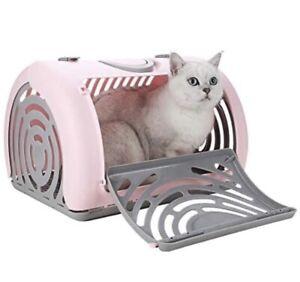 Sport Pet Foldable Travel Cat Carrier - Front Door Plastic Collapsible Carrier