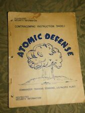 VINTAGE 1951 ATOMIC DEFENSE COMMANDER TRAINING US PACIFIC FLEET INSTRUCTION MANU