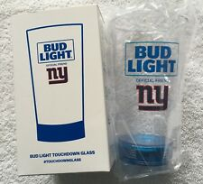 NFL New York Giants Bud Light Touchdown Glass Lights Up Cool New Limited OOP