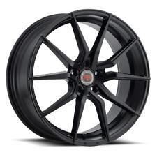 18 inch 18x8 Revolution Racing RR16 Satin Black wheel rim 5x112 +40
