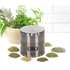 """HOT Spice Tobacco Herb Weed Grinder-4 Pcs with Pollen Catcher-2.2"""" Gift Black"""
