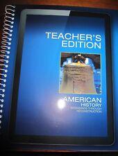 NEW Pearson American History Beginnings Through Reconstruction Teacher's Ed