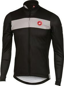 Castelli Raddoppia Men's Fleece Long Sleeve Cycling Jersey : Black Large