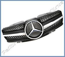 Fit 03-2006 BENZ R230 SL55 SL350 SL500 to be SL On Look Shiny Black Front Grille