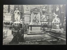 Old PC London: Westminster Abbey, Poets Corner showing tombs of Garrick, Johnson