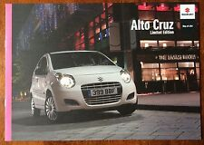 SUZUKI ALTO CRUZ LIMITED EDITION 2010 CAR BROCHURE. 1.0 3 CYLINDER CITY CAR