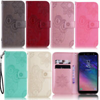 Owl Wallet Leather Flip Case Cover For Samsung S20 S10 S9 Plus A51 A41 A31 A20E