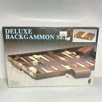 Vintage Deluxe Backgammon Attache Set Brand New Sealed Box Hansen 8869 Taiwan