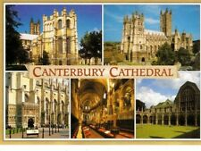 CANTERBURY CATHEDRAL - MULTIVIEW COLOUR  POSTCARD