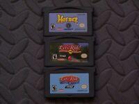 Lot Nintendo Game Boy Advance GBA Games Horsez, Let's Ride! Sunshine Stables +