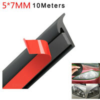 Car Fender Bumper Headlight Edge Moulding Seal Strip Slanted T-Type Weatherstrip